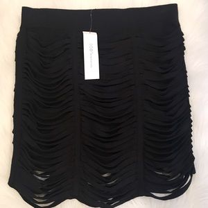 BCBGeneration Black cutout wriggle mini skirt
